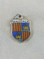 MALLORCA Silver Travel Shield Enamel Charm