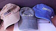 "Cheerleader Cotton Baseball Cap Vintagefinish ""Cheer"" great gift 3 Colors"