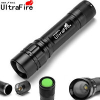UltraFire 18650 Flashlight Zoom Focus 50000LM 3Mode Tactical T6 LED Torch Lamp