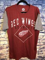 NHL Detroit Red Wings Hockey Red/ Grey TShirt Size XL RARE🔥