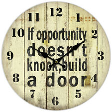 *OPPORTUNITY * Round Wall Clock, Rustic Style, birthday, Gift, 34cm