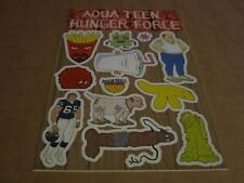 Aqua Teen Hunger Force - Very Rare Unused Sticker Sheet - 13 Individual Stickers