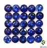2.10 Cts Natural Blue Sapphire Round Cut 3.20 mm Lot 10 Pcs Faceted Gemstones