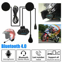 Intercomunicador Interphone Bluetooth Casco Auriculares Moto Interfono 500m