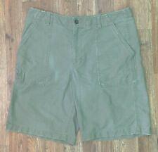 Banana Republic Men's Khaki Green Shorts w Adjustable Waist! 5 Pockets. Size 36