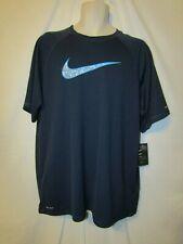 mens nike dry t shirt XL nwt navy blue upf40