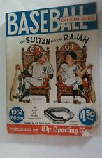 Vintage Baseball 1962 Sorting News Guide BABE RUTH ROGER MARIS Cover