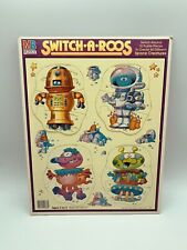 Switch-A-Roos Space Creatures Vintage Frame Tray MB Puzzle 1987 11x14 MILTON BRA