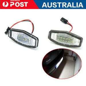 2Pcs For Honda Accord Civic MR-V LED Number License Plate Lights Error Free AU