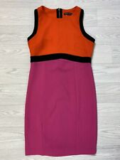 DEFINITIONS Red Pink & Black Panel Pencil Wiggle Dress Size 12