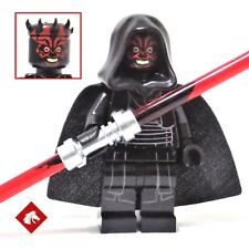 Lego Star Wars - Darth Maul minifigure with hood and cape from set 75096
