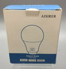 2 Aisirer WIFI Smart Bulbs, 9w, 806lm, 2700K - Works With Alexa - Fast Ship E18