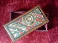 Rarissime boîte marqueterie bakelite Sonia Delaunay orphisme Art Deco