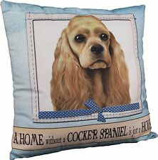 E&S Pets Large Dog Design Throw Pillow 16 x 16 inches - Cocker Spaniel, Buff