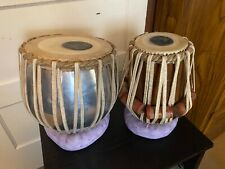 Set of tabla drums with case and cushions