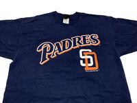 VTG 1998 Pro Player San Diego Padres Blue Orange Logo Shirt Mens L Large