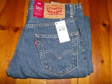 NWT MEN'S LEVI 550 JEANS. MED WASH. STRAIGHT LEG. CHOOSE SIZE.
