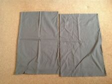 2  Grey Pillowcases. Unbranded