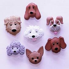 Boutons Dress It Up : Fuzzy Faces - Tête de Chien