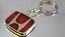 Honda Red Logo Accord Civic Cr-V Jazz Metal Key Ring key chain with Gift Pouch