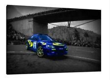 Colin McRae 30x20 pollici Tela ARTE WRC Rally SUBARU IMPREZA poster foto incorniciata