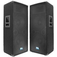 "Seismic Audio Pair Dual 12"" PA DJ Speakers 1200 Watts ~Pro Audio Band"