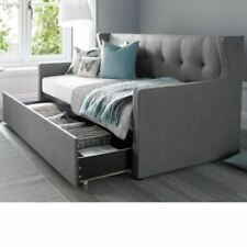 Happy Beds Fabric Modern Bed Frames & Divan Bases