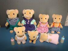 Vintage Sylvanian Families Hazelnut Dormice Dormouse Family Mouse Mice