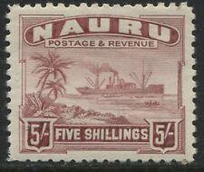 Nauru 1937 5/ claret mint o.g.