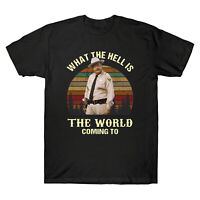 What The Hell Is The World Coming To Vintage Men's T-Shirt Retro Cotton Tee Gift