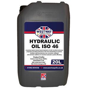 Hydraulic Oil ISO 46 Fluid 20L VG46 Westway High Grade 20 Litres DIN 51524