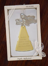 ANGELIC REFLECTIONS Mother Angel & Baby Ornament Venetian Glass MOM GIFT, NEW!