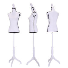 66''High Female Mannequin Torso Dress Form Clothing Display Rack w/ Fabric face