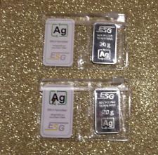 Feinsilber 999,9 höchste Reinheit, Silberbarren 1 x 20 g
