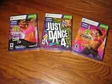 Lot of 3 New XBOX 360 KINECT Video Games; ZUMBA Fitness + 1 more Exercise Read*