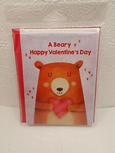 6 Valentines Day Cards A BEARY VALENTINES DAY TO YOU Bear Heart Envelopes Kids ❤