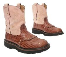ARIAT FATBABY Cowboy Boots 9 B Womens EXOTIC Alligator Leather Western Ropers
