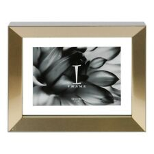 """Contemporary Modern Photo Frame with Aperture 5"""" x 3"""" Grey and Silver"""