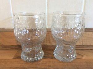 2 x Vintage (1970s) RAVENHEAD - Siesta 37cl Bark Beer Glasses by John Clappison
