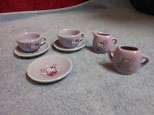 Vintage 2005 Sanrio Hello Kitty Angel Fairy Lavender Ceramic Tea Party Set