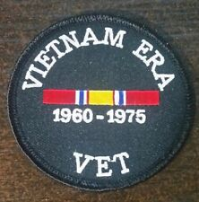 "US Military Patch  ""VIETNAM ERA VET""  3"" Round  Iron / Sew-on patch"