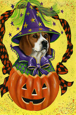 "Precious Pet Garden Flag - Beagle Halloween 12"" x 18"" ~ Charity!"