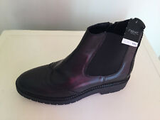 Next Women Black Leather Ankle Boots UK 7 BNWT