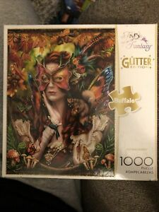 1000 Piece Jigsaw Puzzle Flights of Fantasy AUTUMN QUEEN Buffalo Glitter Edition