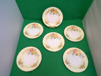 Midwinter Semi Porcelain Floral Side Plates x 6