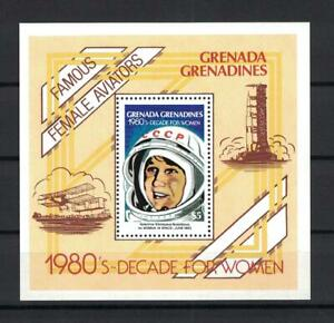Grenada, 1980,Space,Aviation, V.Tereshkova on mnh souv.sheet