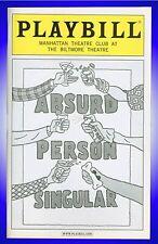 Absurd Person Singular , Broadway Playbill