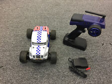 Mini MadBeast 1/18 Electric Monster Truck RTR RC Remote Control Blue White-USED