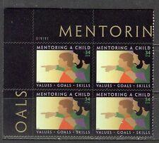 US USA Sc# 3556 MNH FVF PL# BLOCK Mentoring a Child