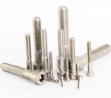 10 Pack Stainless Hex Head Socket Cap Screws M1.6 M2 M2.5 M3 M4 M5 M6 M8 M10 M12